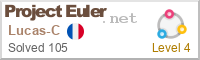 Badge de progression du projet Euler