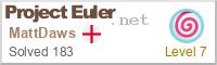 Project Euler profile
