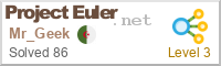 My Project Euler Badge