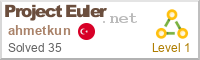 Ahmet Kun on Project Euler