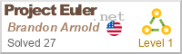 Brandon Arnold on Project Euler