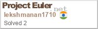 project euler lekshmanan1710