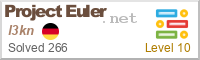 Project Euler badge